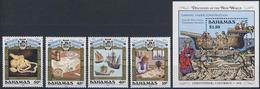 MVS-BK1-191 MINT ¤ BAHAMAS 1990 KOMPL. SET ¤ VOILIERS - ZEILSCHEPEN - SAILING SHIPS OVER THE WORLD - Maritiem