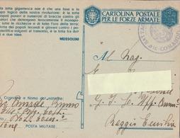 Cartolina In Franchigia Militare  - Postcard /   Viaggiata - Sent /   Propaganda, F 31/11 - 1900-44 Victor Emmanuel III