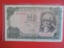 ESPAGNE 1000 PESETAS 1971 CIRCULER (B.7) - [ 3] 1936-1975: Regime Van Franco