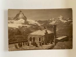 Zermatt - Gare Du Gornergrat Et Le Cervin - VS Valais