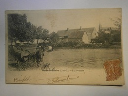 CPA,Morée St Hilaire L'abreuvoir,Loire Et Cher 41,voyagée 1904,TBE,rare - Moree