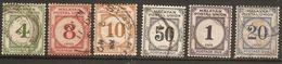 MALAYA - MALAYAN POSTAL UNION 1936 -1951 POSTAGE DUE COLLECTION FINE USED Cat £16+ - Malayan Postal Union