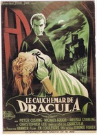 E 19 - 'LE CAUCHEMAR DE DRACULA'  - Christopher Lee - ('Horror Of Dracula') - Posters Op Kaarten