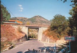 Sospel -- ( 06 ) Tres Grand Viaduc Devant Le Mont Agaisin -- 1 Avril 1991 - Trains