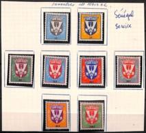 [828461]TB//*/Mh-Sénégal 1961 - S1/8, Armes De Dakar, Armoiries, Service, SC - Sénégal (1960-...)