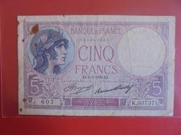 FRANCE 5 FRANCS 2-3-1933 CIRCULER (B.7) - 1871-1952 Antiguos Francos Circulantes En El XX Siglo