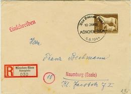 DR Mi-Nr 899  /braunes Band 1944,  Echt Gelaufener Porto-gerechter R-Brief - Cartas