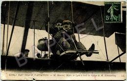 E. Herriot (Maire De Lyon) à Bord Du Biplan De M. Kimmerling (Circulé En 1911) - École Nle D'Aviation - Evénements