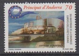 Andorra Sp. 2000 50Y European Human Rights 1v ** Mnh (44608B) - Europese Gedachte