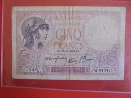 FRANCE 5 FRANCS 19-10-1939 CIRCULER (B.7) - 1871-1952 Antiguos Francos Circulantes En El XX Siglo