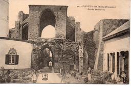 Finistère : Pointe Saint Mathieu : Entrée Des Ruines - France