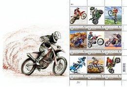 Ukraine 2019, Sport, Moto Racing, Sheetlet Of 9v - Ucrania