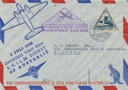 Nederlands Indië - 1938 - KNILM Openingsvlucht Van Batavia Naar Sydney / Australia - Netherlands Indies