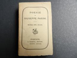 7ogg) POESIE DI GIUSEPPE PARINI EDITORE BARBERA FIRENZE 1921 454 PAGINE FORMATO 32° - Unclassified
