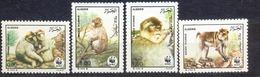 ALGERIE - MNH - WWF - FAUNA - MONKEYS - MI.NO.972-975 - CV = 8 € - W.W.F.