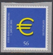 Germany 2002 Introduction Euro 1v Self Adhesive ** Mnh (44608C) - Europese Gedachte