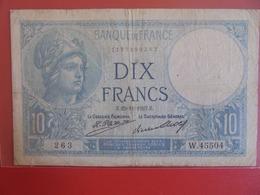 FRANCE 10 FRANCS 1927 CIRCULER (B.7) - 1871-1952 Antichi Franchi Circolanti Nel XX Secolo