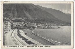CASTELLAMMARE DI STABIA PANORAMA CON LA VILLA COMUNALE PICCOLO FORMATO 1937 - Castellammare Di Stabia