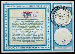 PAKISTAN Vi19 HS Violet Rs. 1.25 On 65 PAISA InternationalReply Coupon Reponse Antwortschein IRC IAS O KARACHI 20.2. - Pakistan