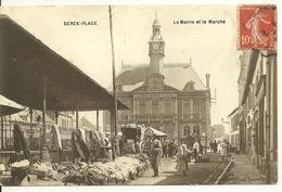 62 - BERCK PLAGE / LA MAIRIE ET LE MARCHE - Berck