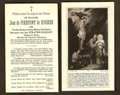 Image Mortuaire - Doodsprentje -Mme De Pierpont De Rivière - Baronne Van Der Straeten-Waillet - Marche-en-Famenne - Images Religieuses