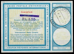 PAKISTAN Vi20 HS Violet Rs. 2.50 On 1.25 RUPEE InternationalReply Coupon Reponse Antwortschein IRC IAS O LAHORE 21.8 - Pakistan