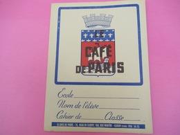 Protège   Cahier/Café / CAFE De PARIS/CLICHY / Seine/Vers 1950           CAH207 - Koffie En Thee