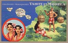 3709 Cpa Publicité Produits Chimiques Lion Noir - Les Colonies Françaises: Tahiti Et Mooréa - Advertising