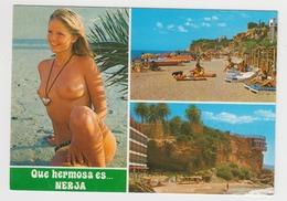 OR550 - ESPAGNE - NERJA - Multivues - Femme Seins Nus - Málaga