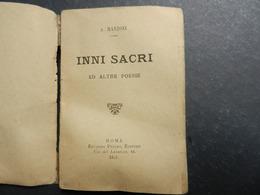 7ogg) ALESSANDRO MANZONI INNI SACRI ED ALTRE POESIE Ed PERINO ROMA 1891 - Libri, Riviste, Fumetti
