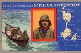 3714 Cpa Publicité Produits Chimiques Lion Noir - Les Colonies Françaises:  Saint Pierre Et Miquelon - Advertising