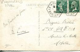 N°75492 -cachet Manuel Hexagonal Le Hohwald -1926- - Marcofilia (sobres)