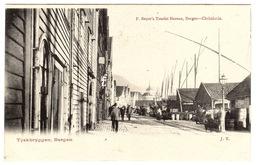 BERGEN - Tyskbryggen, Bergen - Ed. F. Beyer's Tourist Bureau, Bergen-Christiana - Norvegia