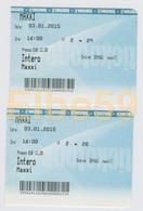 Roma, 2015, MAXXI (Museo Delle Arti Del XXI Secolo, 2 Biglietti Di Ingresso 3-01-2015 - Tickets - Entradas