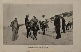 Kust // Une Excursion Sur La Plage (Ezeltje Rijden) 1910 - België