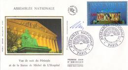FDC1er  Jour : Assemblée Nationale 13/05/1995  N° 2945 Signé Louis Briat - FDC