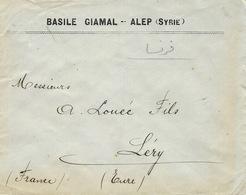 1913- Enveloppe D'ALEP  Pour La France -affr. Turc Au Dos - Syrie