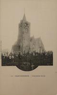 Blankenberge - Blankenberghe // Ancienne Eglise - Oude Kerk Met Kerkhof Ca 1899 Zeldzaam - Blankenberge