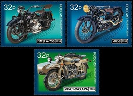 Russia, 2019, History Of Russian Motorcycles, Motorbikes, MNH - Motos