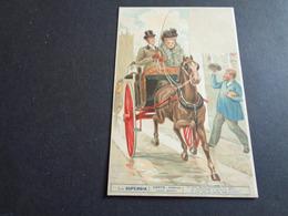 Couple ( 80 )  Koppel   La Superbia  -  Dante  - Inferno  - Attelage De Cheval ( Paard ) - Coppie
