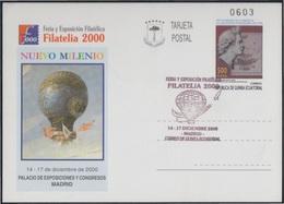 Guinea Ecuatorial Entero Postal 8 2000  Expo Filatelia Globo Globo Air Balloon M - Spanien
