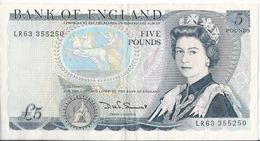 Regno Unito/United Kingdon/England - 5 Pounds 1982/88 - P.378c - 5 Pounds