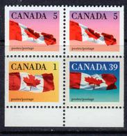 Canada 1989-2005 Flag Definitives Booklet Pane Of 4, MNH, SG 1350ba - 1952-.... Reign Of Elizabeth II