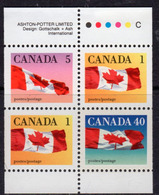 Canada 1989-2005 Flag Definitives Booklet Pane Of 4, MNH, SG 1350c - 1952-.... Reign Of Elizabeth II