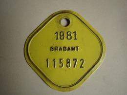 Plaque Vélo Brabant 1981 - Number Plates