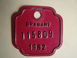 Plaque Vélo Brabant 1982 - Number Plates