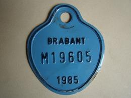 Plaque Vélomoteur Brabant 1985 - Number Plates