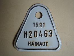 Plaque Vélomoteur Hainaut 1991 - Number Plates