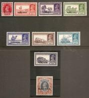 INDIA - NABHA 1938 VALUES TO 1R BETWEEN SG 80 AND SG 89 MOUNTED MINT Cat £62+ - Nabha