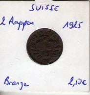 Suisse. 2 Rappen. 1925 - Suiza